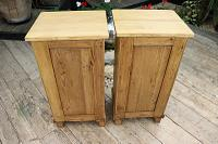Large Pair of Old Stripped Pine Bedside Cabinets / Cupboards-We Deliver! (9 of 9)