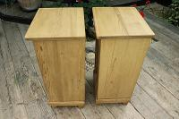 Large Pair of Old Stripped Pine Bedside Cabinets / Cupboards-We Deliver! (7 of 9)