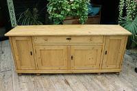 Big! Old 2M Antique Pine Dresser Base Sideboard / Cupboard / TV Stand - We Deliver! (4 of 13)