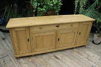 Big! Old 2M Antique Pine Dresser Base Sideboard / Cupboard / TV Stand - We Deliver! (3 of 13)