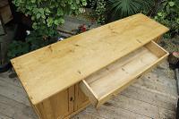 Big! Old 2M Antique Pine Dresser Base Sideboard / Cupboard / TV Stand - We Deliver! (8 of 13)