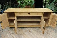 Big! Old 2M Antique Pine Dresser Base Sideboard / Cupboard / TV Stand - We Deliver! (9 of 13)