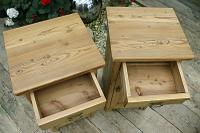 Nice 'Chunky' Pair of Old Stripped Pine Bedside Cabinets / Cupboards - We Deliver! (5 of 8)