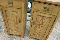 Nice 'Chunky' Pair of Old Stripped Pine Bedside Cabinets / Cupboards - We Deliver! (3 of 8)
