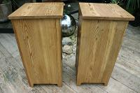 Nice 'Chunky' Pair of Old Stripped Pine Bedside Cabinets / Cupboards - We Deliver! (7 of 8)