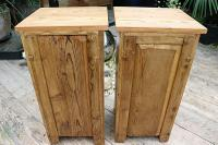 Nice 'Chunky' Pair of Old Stripped Pine Bedside Cabinets / Cupboards - We Deliver! (8 of 8)
