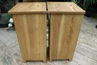 Nice 'Chunky' Pair of Old Stripped Pine Bedside Cabinets / Cupboards - We Deliver! (6 of 8)
