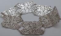 Victorian London 1890 Hallmarked Solid Silver Nurses Belt Buckle 237g