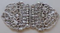 Victorian 1898 Hallmarked Solid Silver Nurses Belt Buckle Maternity