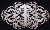Victorian 1900 Hallmarked Solid Silver Nurses Belt Buckle Lawrence Emanuel