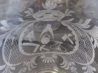 Large Victorian Antique Masonic 1 1/2 Pint Glass Tankard c.1860 (7 of 11)