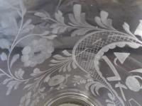 Large Victorian Antique Masonic 1 1/2 Pint Glass Tankard c.1860 (9 of 11)