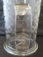 Large Victorian Antique Masonic 1 1/2 Pint Glass Tankard c.1860 (11 of 11)