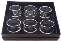 Boxed Set 6 1924 Hallmarked Solid Silver Napkin Rings Serviette Ring (6 of 6)