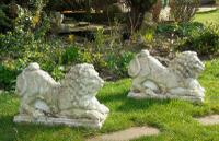 Pair of Medieval Style Garden Lions C.1920