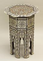 Fabulous Antique Inlaid Syrian Mother of Pearl Table (7 of 9)