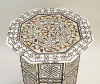 Fabulous Antique Inlaid Syrian Mother of Pearl Table (6 of 9)