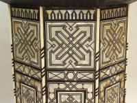 Fabulous Antique Inlaid Syrian Mother of Pearl Table (4 of 9)