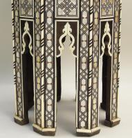 Fabulous Antique Inlaid Syrian Mother of Pearl Table (2 of 9)