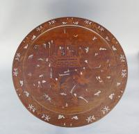 Antique Chinese Hardwood Table with Mother of Pearl Inlay (8 of 8)