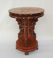 Antique Chinese Hardwood Table with Mother of Pearl Inlay (7 of 8)