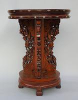 Antique Chinese Hardwood Table with Mother of Pearl Inlay (6 of 8)