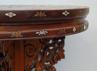 Antique Chinese Hardwood Table with Mother of Pearl Inlay (5 of 8)