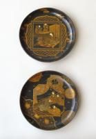 Pair of Japanese Meiji Lacquer Dishes c.1910