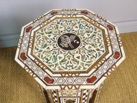 Antique Pair Syrian Mother of Pearl Inlaid Hardwood Tables (6 of 11)