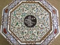 Antique Pair Syrian Mother of Pearl Inlaid Hardwood Tables (5 of 11)
