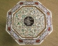 Antique Pair Syrian Mother of Pearl Inlaid Hardwood Tables (4 of 11)