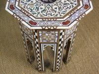 Antique Pair Syrian Mother of Pearl Inlaid Hardwood Tables (3 of 11)
