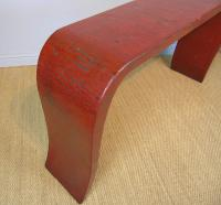 Antique Chinese Red Lacquer Console Table c.1920 (4 of 7)
