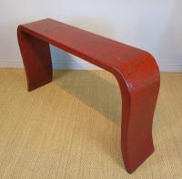 Antique Chinese Red Lacquer Console Table c.1920 (5 of 7)