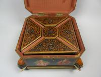 Antique Indian Wood & Polychrome Decorated Spice Box (4 of 6)