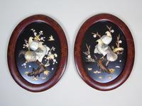 Good Pair of Japanese Shibayama Plaques Meiji