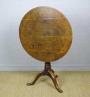 George III Country Oak Circular Tip Top Table (4 of 8)