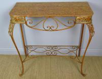Vintage Hand Painted Italian Metal Hall Table (2 of 8)