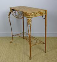 Vintage Hand Painted Italian Metal Hall Table (5 of 8)