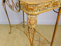 Vintage Hand Painted Italian Metal Hall Table (6 of 8)