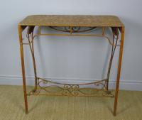 Vintage Hand Painted Italian Metal Hall Table (7 of 8)