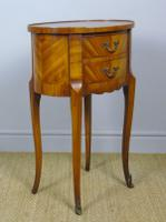 Neat Antique French Cabinet Lamp / Side Table Bedside (4 of 6)