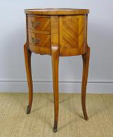 Neat Antique French Cabinet Lamp / Side Table Bedside (5 of 6)