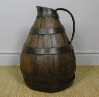 Charming Coopered Oak 19th Century Cider Jug