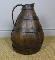 Charming Coopered Oak 19th Century Cider Jug (2 of 7)