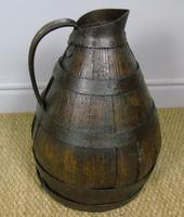 Charming Coopered Oak 19th Century Cider Jug (3 of 7)