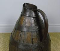 Charming Coopered Oak 19th Century Cider Jug (5 of 7)
