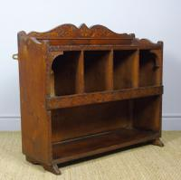 Antique Country Pine Wall Shelves / Table Display Cabinet (4 of 6)