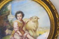 Painted Porcelain Plaque 19th Century St John the Baptist (4 of 5)