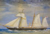 Antique Watercolour of Sailing Ship 'the Hawk' (5 of 6)